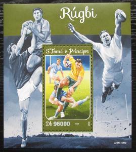 Svatý Tomáš 2016 Rugby Mi# Block 1190 Kat 10€ 1838