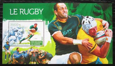 Guinea 2015 Rugby Mi# Block 2551 Kat 14€ 1839