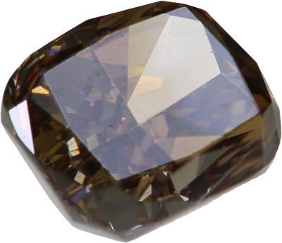Přírodní diamant 1,01ct, SI1, Fancy Orangy brown + CERTIFIKÁT ČGL
