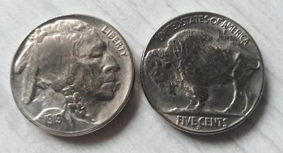 USA 5 cents 1919-S Indián Buffalo kopie M-0673