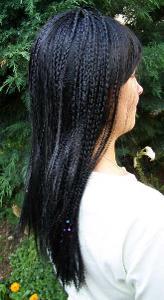Paruka dlouhé černé vlasy s dredy (19)
