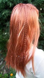Paruka dlouhé měděné vlasy  No.9