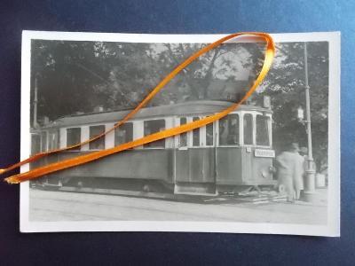 Brno město doprava  dráha  stará tramvaj vůz č. 3  Maloměřice  Líšeň