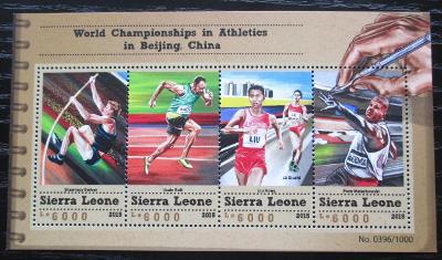 Sierra Leone 2015 MS v lehké atletice Mi# 6677-80 Kat 11€ 1841