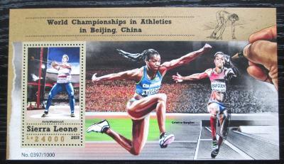 Sierra Leone 2015 MS v lehké atletice Mi# Block 868 Kat 11€ 1841