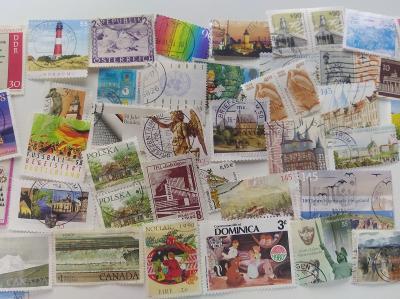 Staré poštovní známky Svět  Mix jen 1Kč  za kus