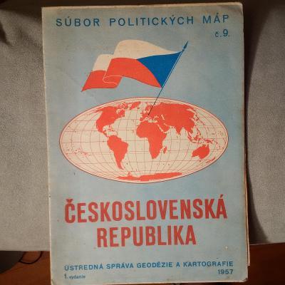Mapa ČSR, 1957, skládací - za korunku