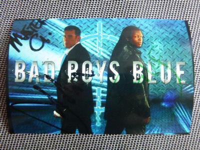 BAREVNÉ FOTO 10x 15cm dvojice Bad Boys Blues podpisyREPRINT