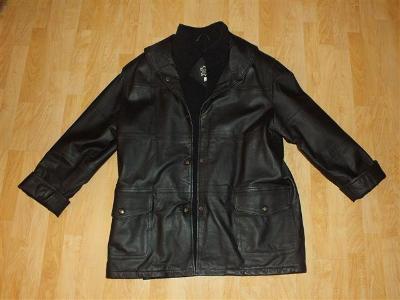 Dámská kožená zimní bunda/kabát.