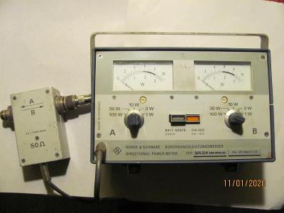 Vysokofrekvenční Wattmetr Rohde Schwarz 20-1000 MHz, 0,1-100W