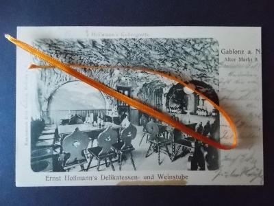 Jablonec n Nisou  Gablonz Hollmann  Restaurace vinárna sklep interiér