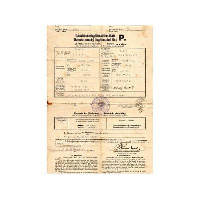 Domobranecký legitimační list, Královo Pole