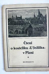 """Čtení o kostelíku """" U Ježíška """" v Plzni  1936"""