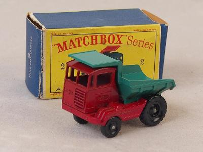 MATCHBOX 2C - MUIR HILL DUMPER - 1961 - PŮVODNÍ KRABIČKA