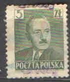 Polsko - Mi 638 - Boleslav Bierut - přetisk Grosze
