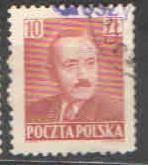 Polsko - Mi 639 - Boleslav Bierut - přetisk Grosze