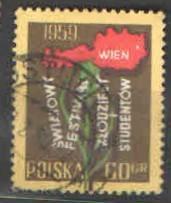 Polsko - Mi.1101 - 7.svět. festival mládeže