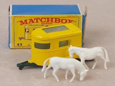 MATCHBOX 43C - PONNY TRAILER - 1968 - PŮVODNÍ KRABIČKA