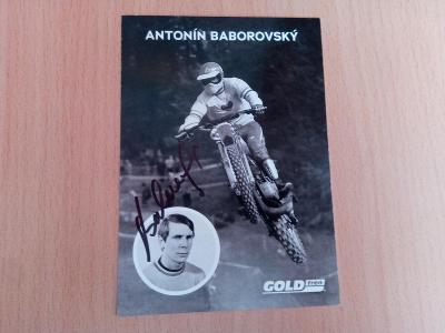 plakát a foto motokrosových legeng +podpis