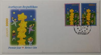 Europa 2000 - společné vydání s ČR - FDC Ázerbajdžán