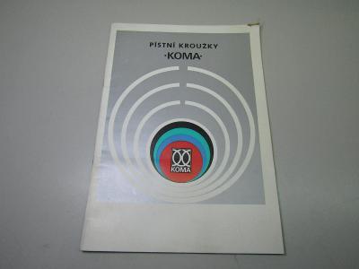 Stará brožura Písní kroužky Koma