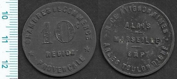 """Žeton - Provencale Marseille """"10C"""" /NPL-ZT°23"""