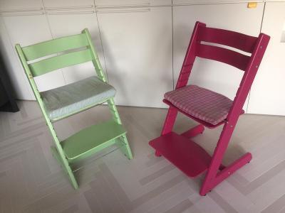 polohovatelná dětská židle - 1ks zelená