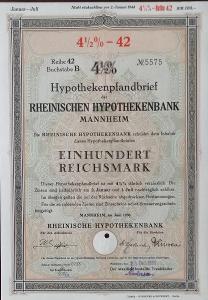 RHEINISCHE HYPOTHEKENBANK, MANNHEIM, 100 RM, 1938, 5575