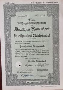 DEUTSCHE RENTENBANK KREDITANSTALT, BERLIN, 200 RM, 1935, 11242