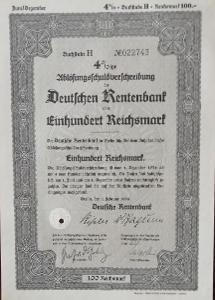 DEUTSCHE RENTENBANK KREDITANSTALT, BERLIN, 100 RM, 1935, 22743