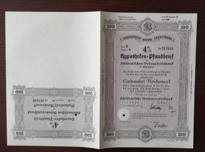 SÜDDEUTSCHE BODENCREDITBANK, MÜNCHEN, 100 RM 1941, 261686