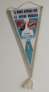 vlaječka Baník Ostrava - Bayern München (1981)