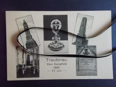 Trutnov Krkonoše Trautenau válka Bojiště 1866 pomník památník kříž