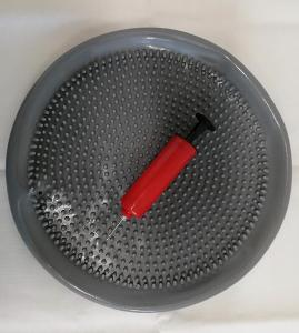 Balanční a masážní disk 33 cm stříbrný + pumpička na nafukování