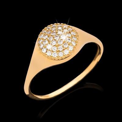 Zlatý briliantový prsten 0,18ct 18kt 5,75g vel.66 000231505190