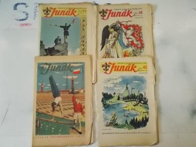 Časopis  týdeník mládeže Skaut Junák 47 Alegorie čtení Hoši na řece