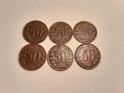 50 haléřů  60 léta.  8 ks. Každý jiný!