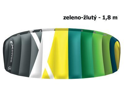 Kite komorový CROSS Air zeleno-žlutý - vel. 1,8