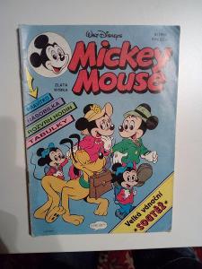 Časopis Mickey Mouse, č. 9/1992, zachovalý stav