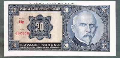 20 korun 1926 serie Hg !!! stav UNC perf.