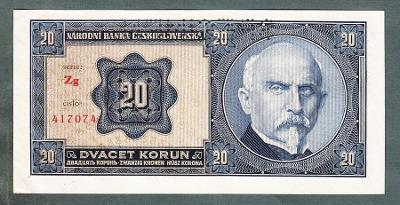 20 korun 1926 serie Zg !!! stav UNC perf.