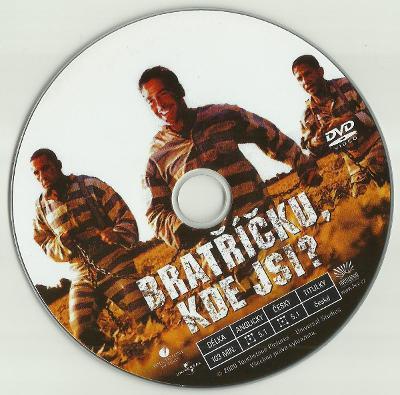 DVD originál: Bratříčku, kde jsi? (2000), George Clooney, jen disk