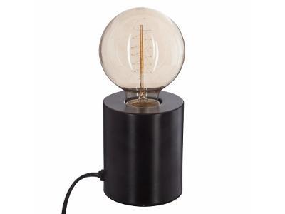 Dekorativní žárovka TUBE NOIR, 10 cm, barva černá