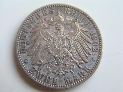 mince 2 marka 1902 G Baden R!