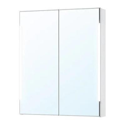 IKEA STORJORM Zrc. skříňka+2 dveře/vest.osvětlení, bílá
