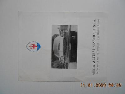 Maserati program 1966