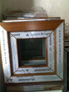 Plastová okna ( plastové okno ) 40x40 zlatý dub