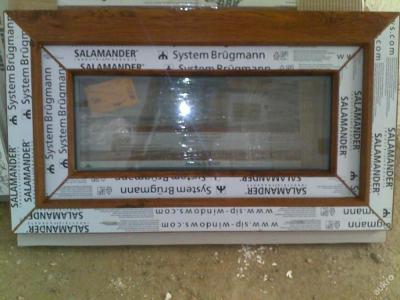 Plastová okna ( plastové okno ) 70x40 zlatý dub