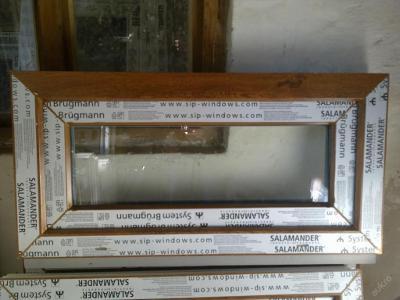 Plastová okna ( plastové okno ) 80x40 zlatý dub