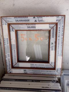 Plastová okna ( plastové okno ) 50x50 zlatý dub